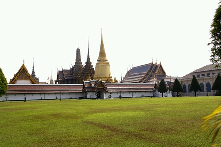 preacher: Temple of the Emerald Buddha The Thailand Stock Photo