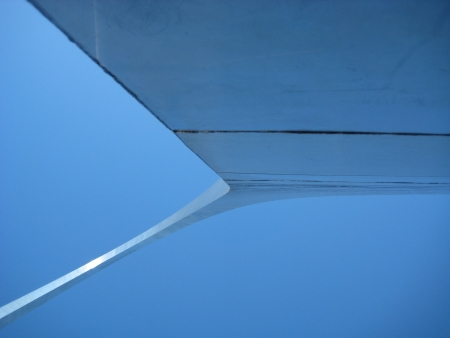 st  louis arch: View from the underside of the St Louis Arch 2