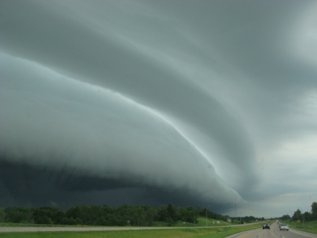 Dark Storm Cloud Approaching Over Missouri Stock Photo