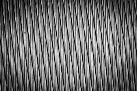 Steel wire rope cable background. photo