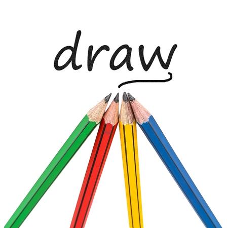 grafit: Graphite wooden pencils for sketching shot closeup on white background. Zdjęcie Seryjne
