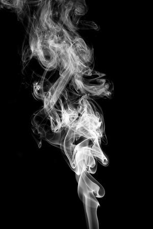 Abstract white smoke on black background. 版權商用圖片