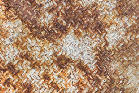 diamondplate: Texture of rusty old diamond plate metal. Stock Photo