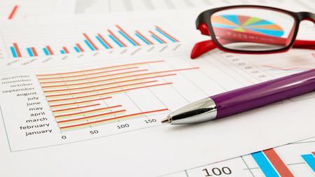 Business chart Standard-Bild