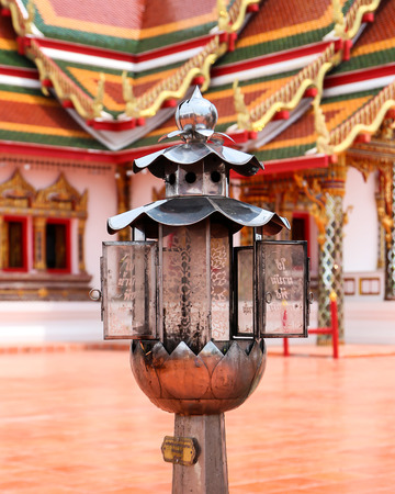 Oil lamps in Buddhist.