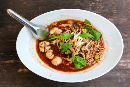 thai noodle: Close up Thai noodle. Stock Photo