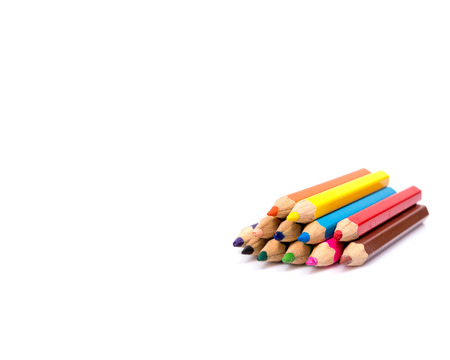 color pencils: Colorful pencils, isolated on white
