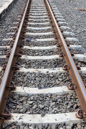 ballast: Railway in Thailand.