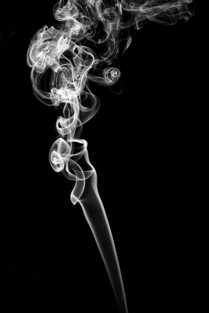 cigarette smoke: Abstract smoke on black background.