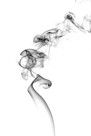 Abstract smoke on white background.