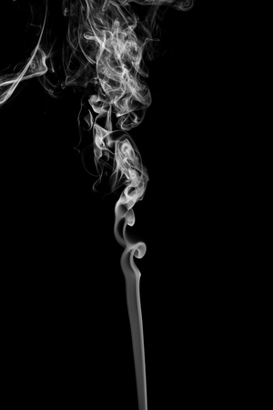 black and white image: Abstract smoke on black background.