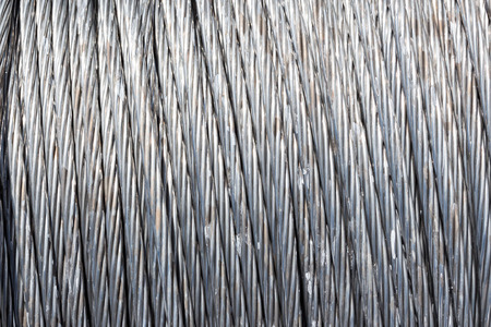 wire rope: Steel wire rope cable background.