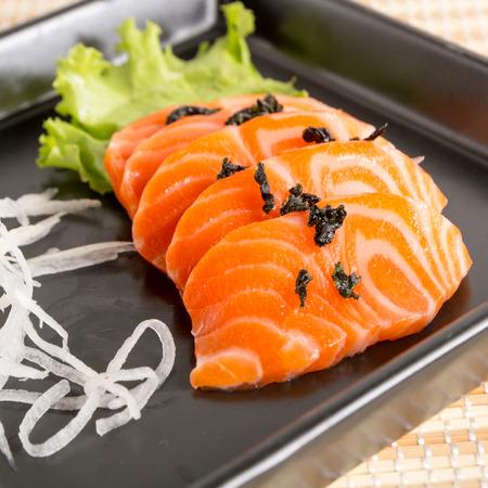 Salmon sashimi - japanese food.