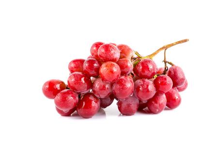 crimson: fresh grape on white background.