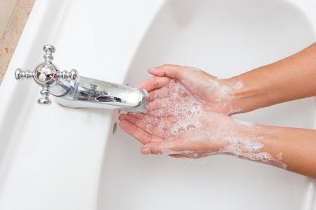 de higiene: Higiene. Manos de limpieza. Lavarse las manos