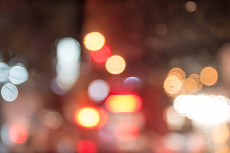 light in dark: Abstract bokeh from car light on the traffic road.