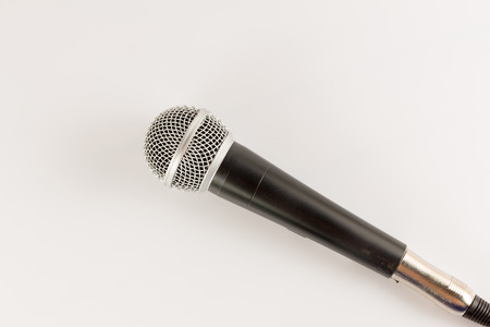 instrument cable: Microphone on a White Background