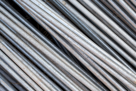 strenghten: Close up the steel rods for construction Stock Photo