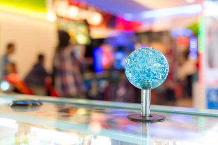 arcade: Close up Joystick of arcade.