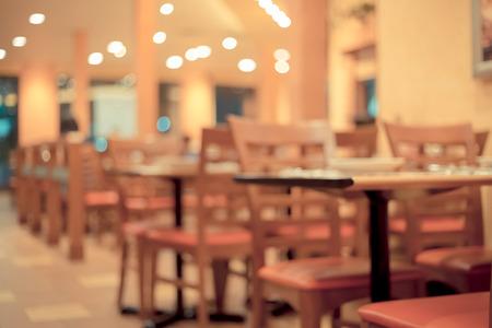 restaurant dining: Blurred image of dining restaurant ,retro color.