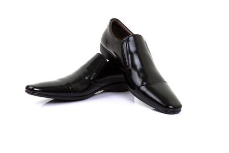 black shoes isolated on white background. Stock Photo