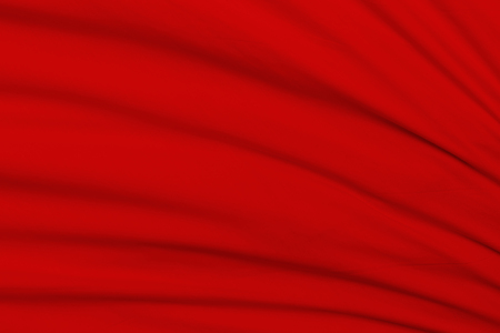 creased: Creased red cloth material fragment as a background
