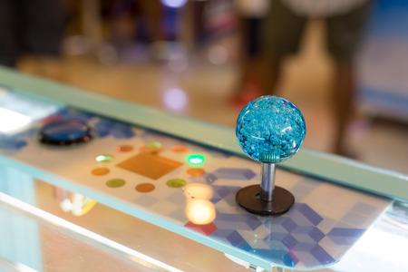 redemption: Close up Joystick of arcade.