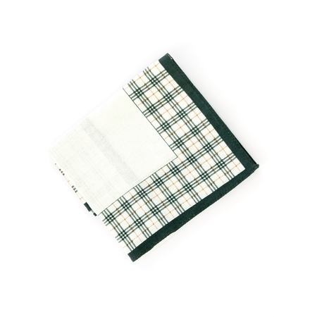 close up of handkerchief on white background