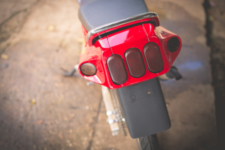 taillight: Close up taillight of motorcycle.