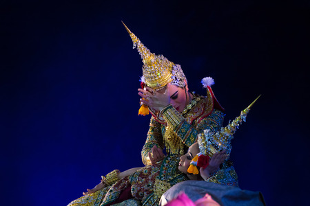 Udon Thani, Thailand - January 22, 2014: The pantomime (KHON) travel pantomime festival in Udon Thani.