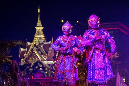 Udon Thani, Thailand - January 22, 2014: The pantomime (KHON) travel pantomime festival in Udon Thani.