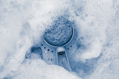 caused: Bubble caused by washing as background Stock Photo