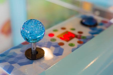 Close up Joystick of arcade.