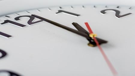 face close up: Close up of white clock face,macro.