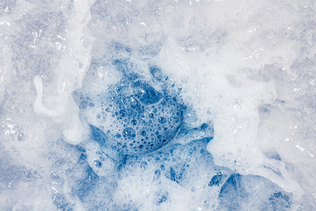 caused: Bubble caused by washing as background. Stock Photo