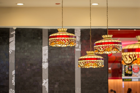 UdonThani,Thailand, December 23, 2016: Swensen's is a global chain of ice cream restaurants that started in San Francisco, California Editorial