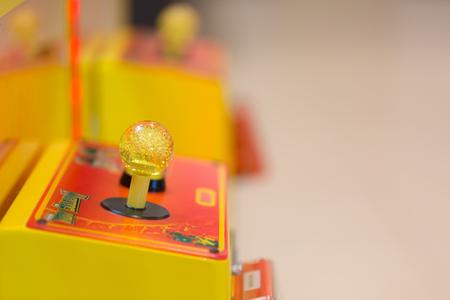 Joystick of a vintage arcade videogame.