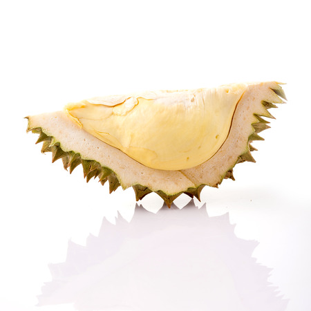 Durian on white background, King of fruits