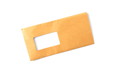 Isolated of brown envelope with blank addressed.