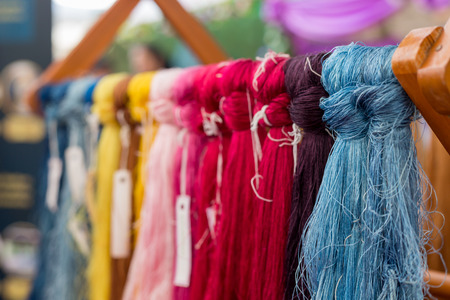 Close up of cotton dye is made from natural ingredients. in Thailand