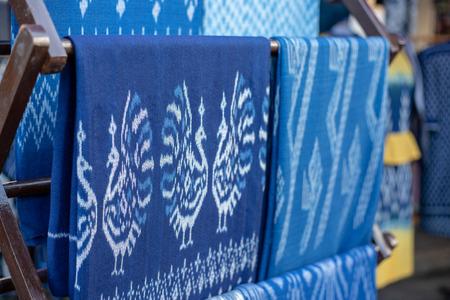 Indigoblaue Schals für den Markt,Thai Blue Indigo gefärbtes Tuch