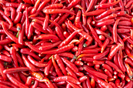 Red Chillies Background,Selective focus.