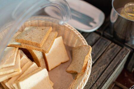 homemade slide bread. 写真素材