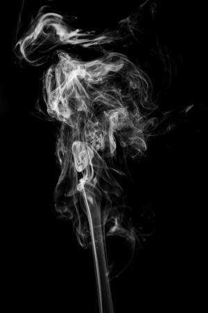 abstract Smoking white. Explosive powder white Smoke on black background