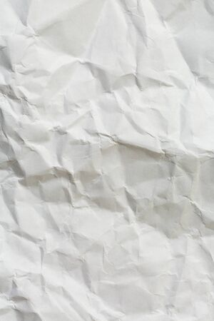 Paper crumple with the texture of the surface,White creased paper texture for abstract background