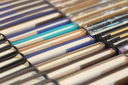 Top view of colorful hardback books. 写真素材