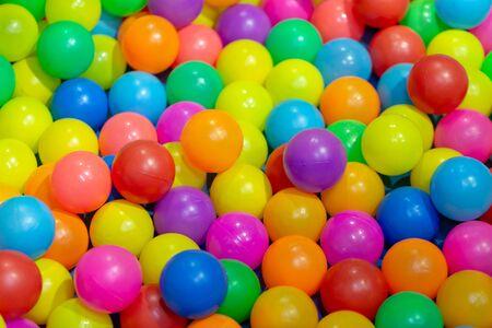 color plastic balls on children's playground.
