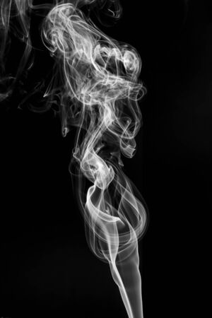 abstract Smoking white. Explosive powder white Smoke on black background Imagens