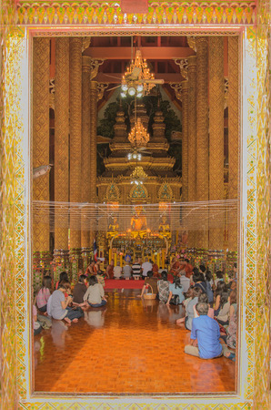 folkways: Buddhism ordained taken in thailand temple Editorial