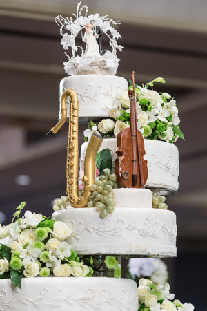 Wedding cake in wedding ceremony photo